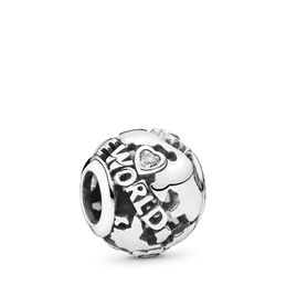"""""""Around the world"""" Charm, Sterling-Silber, Kein anderes Material, Keine Farbe, Cubic Zirkonia - PANDORA - #791718CZ"""