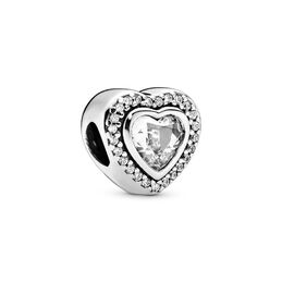 Sparkling Love Charm, Sterling-Silber, Kein anderes Material, Keine Farbe, Cubic Zirkonia - PANDORA - #797608CZ