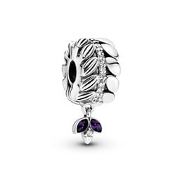 Grains of Energy Charm, Sterling-Silber, Emaille, Lila, Cubic Zirkonia - PANDORA - #797591CZ