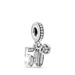 50 Years of Love Charm-Anhänger, Sterling-Silber, Kein anderes Material, Keine Farbe, Cubic Zirkonia - PANDORA - #797264CZ
