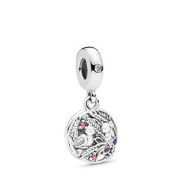 Always by your Side Charm, Sterling-Silber, Emaille, Lila, Cubic Zirkonia - PANDORA - #797671CZRMX