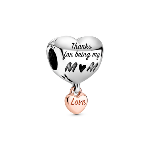 """Love You Mum"" Herz-Charm"