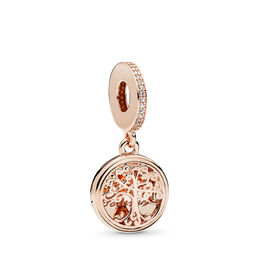 Family Roots Charm, PANDORA Rose, Kein anderes Material, Keine Farbe, Cubic Zirkonia - PANDORA - #781988CZ