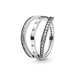 Flipping Hearts of PANDORA Ring, Sterling-Silber, Kein anderes Material, Keine Farbe, Cubic Zirkonia - PANDORA - #197404CZ