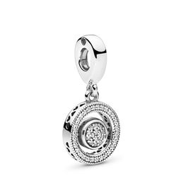 Spinning PANDORA Signature Charm, Sterling-Silber, Kein anderes Material, Keine Farbe, Cubic Zirkonia - PANDORA - #797430CZ
