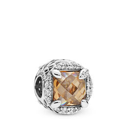 Radiant Grains of Energy Charm, Sterling-Silber, Kein anderes Material, Gold, Cubic Zirkonia - PANDORA - #797650CCZ