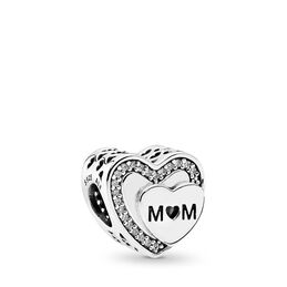 Tribute to Mum Charm, Sterling-Silber, Kein anderes Material, Keine Farbe, Cubic Zirkonia - PANDORA - #792070CZ