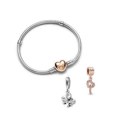 Just married Armband & Charms Geschenkset