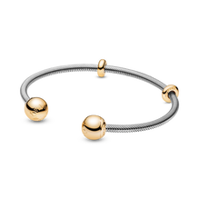 Pandora Moments Snake Chain Style Offener Armreif