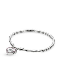 Armband Liebesversprechen, Sterling-Silber, Kein anderes Material, Pink, Cubic Zirkonia - PANDORA - #596586FPC