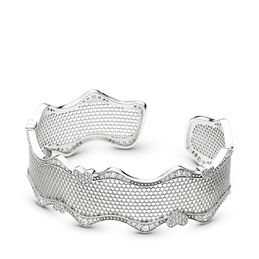 Lace of Love Offener Armreif, Sterling-Silber, Kein anderes Material, Keine Farbe, Cubic Zirkonia - PANDORA - #597704CZ